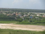 Touching down - you can see the town of Punta Cana in the background