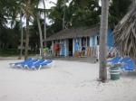 A souvenir hut on the beach