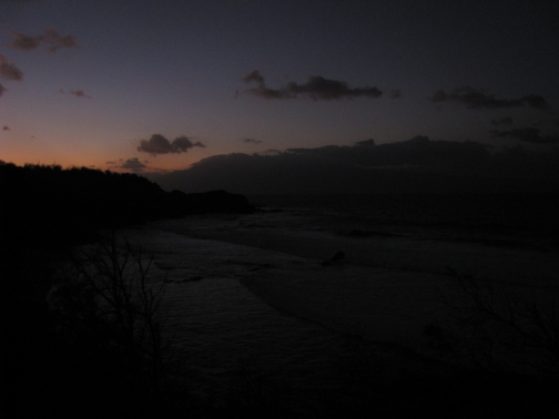 The last picture I took that night; dark, grainy, raw and unedited. This is from the lookout at Punalau Beach about three miles from Maui's northernmost point.