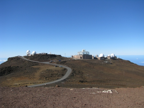 The famous observatory atop Haleakala