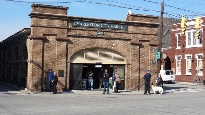 The famous Charleston City Market (and me). Get your souvenirs and other things you probably don't need here.