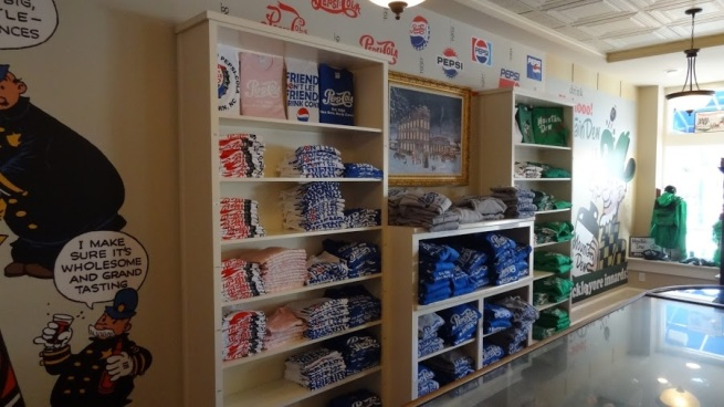 Get your Pepsi t-shirts at the Pepsi Birthplace in New Bern, NC