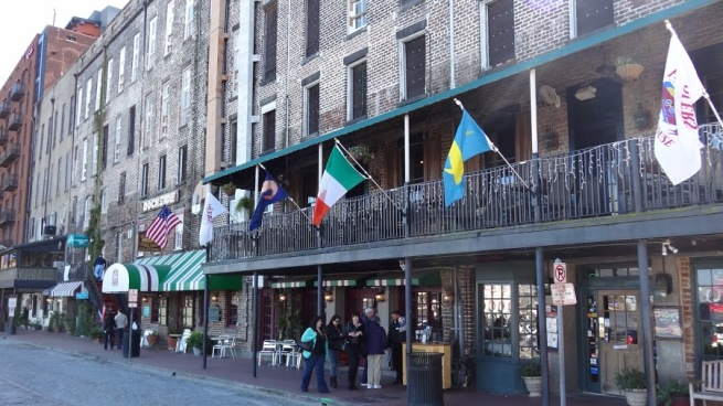 The charming waterfront of Savannah, GA