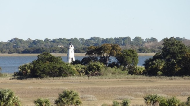 The Cockspur Island light actually sits just off of the island