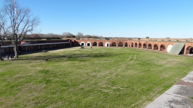 Interior shot of Fort Pulaski