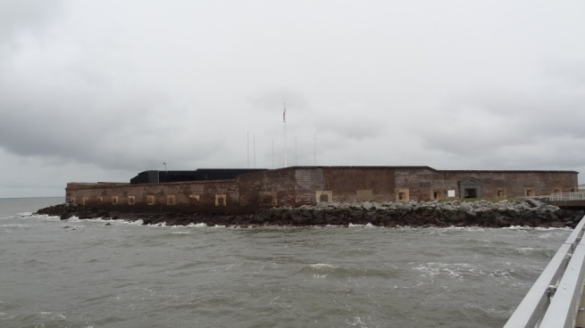 A gusty arrival on Fort Sumter