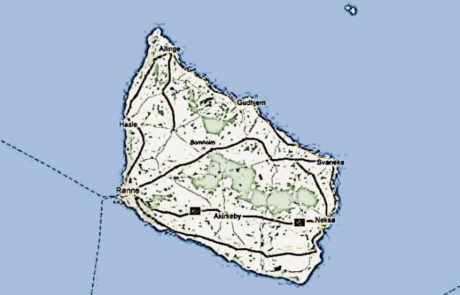 bornholm map