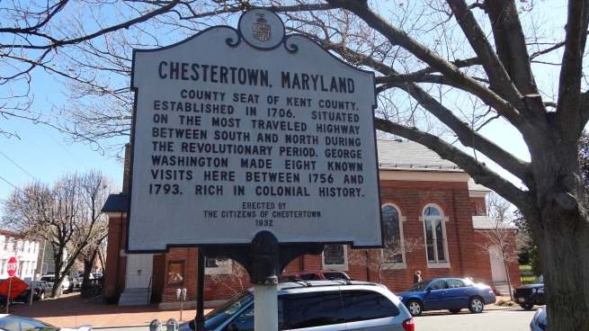 The historical marker in town makes a point to mention George Washington's many visits