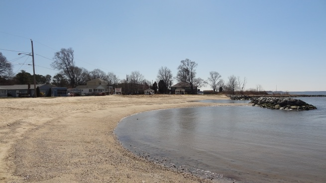 Yes, this might be one of the tiniest of the Maryland beaches, but Rock Hall does have its own public beach