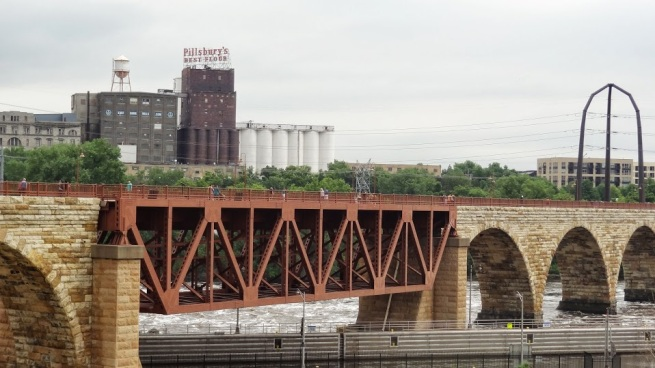"View of the old Pillsbury Mill that was featured on an episode of Don Wildman's ""Off Limits"""