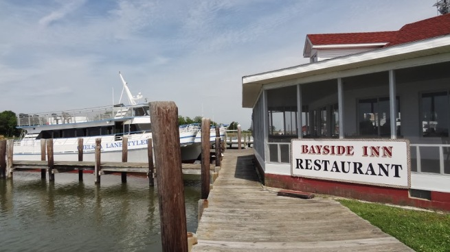 The Bayside Restaurant and our boat back to Crisfield and civilization as WE know it.