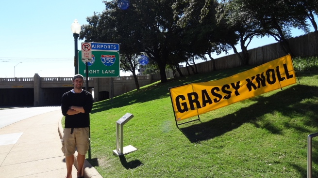 I half-expect Vegas-style lights to direct tourists to the Grassy Knoll next time I come...