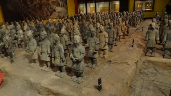 We're not in China, this is Orlando, FL and the replica Terracotta Army at Epcot Center's China pavilion.