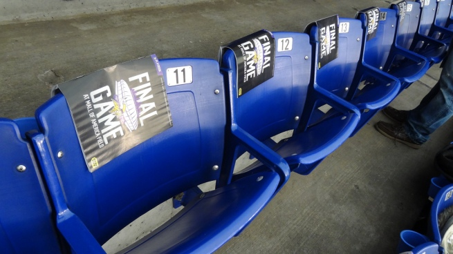 The final time these seats will have anyone in them (at least in the Metrodome at least).