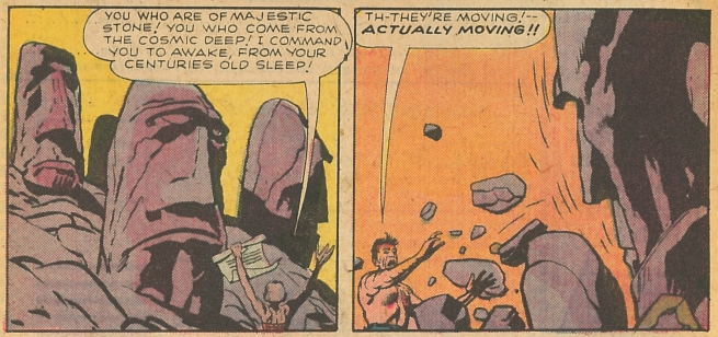 "One of the various iterations of Jack Kirby's ""stone men"". (Tomb of Darkness/Marvel/September 1975)"
