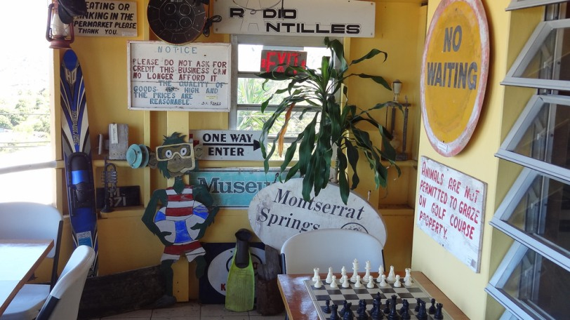 A collection of stuff salvaged from Montserrat, mostly from the Plymouth area
