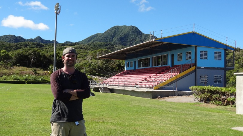 That's me at the FIFA-funded field for Montserrat's National Football program