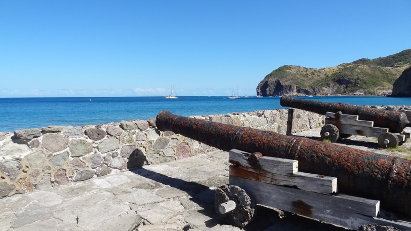 Cannons overlooking Carr's Bay