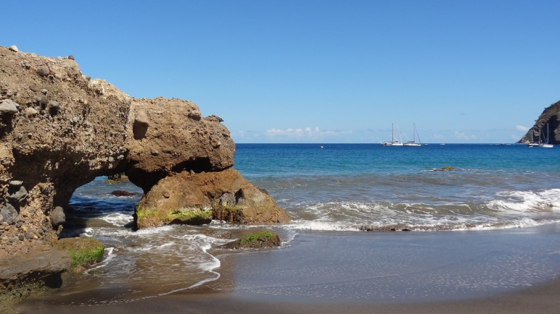 An arch formation at Carr's Bay Beach