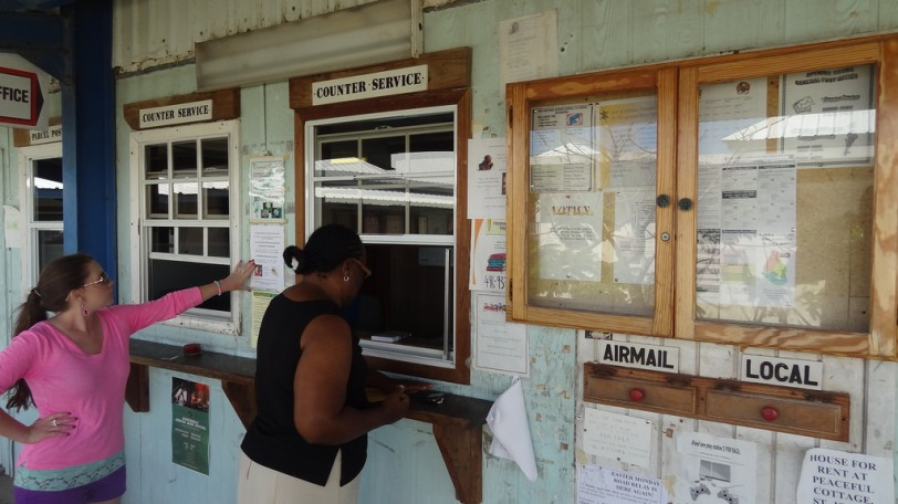 A post office at government HQ in Brades