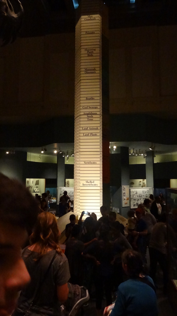 The famous timeline that marks the entrance to the Hall.