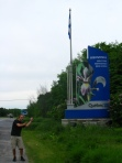 That's my cousin Walter getting away with being a 'poseur' (in a good way - He's posing in front of the Quebec sign!)