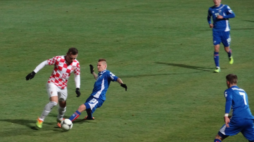 The game was a very hard fought 0-0 draw, which, at the time, was a good result for Iceland (and meant a non-scoreless draw in Croatia would move them through)