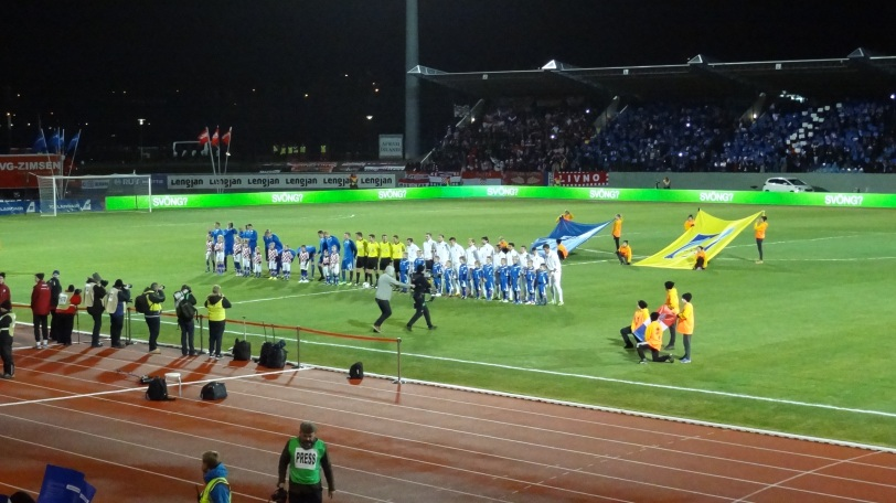 Player introductions in Iceland