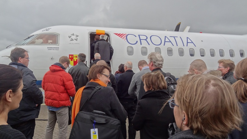 Boarding my Croatian Airlines flight in Copenhagen