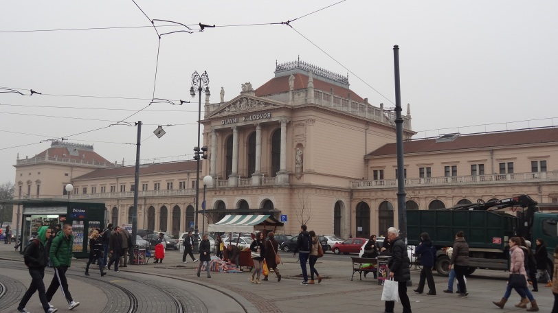 The train station (Glavni kolodvor) in Zagreb