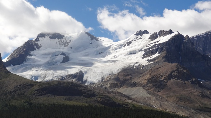 "The Columbia Icefield is an awesome sight to behold. We were find with ""just"" beholding it..."
