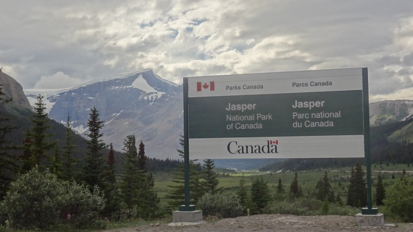 The entrance to Jasper comes halfway into the Icefields drive (from Banff)