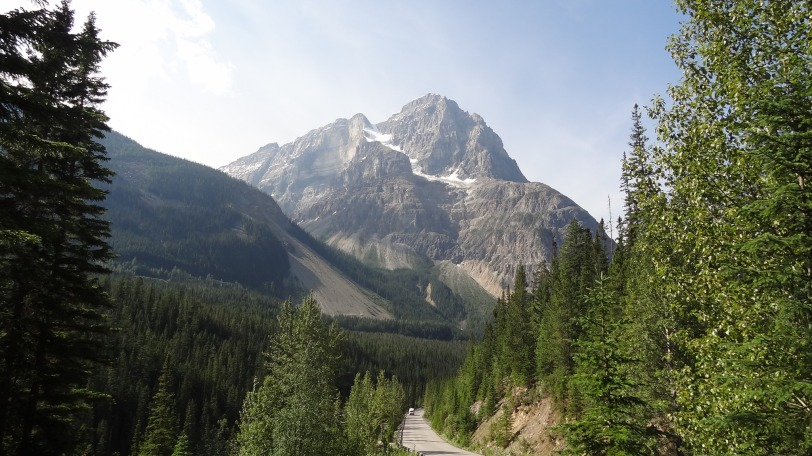 The mountains are just as impressive on the British Columbia side in Yoho...