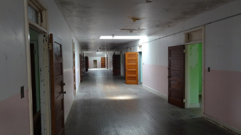 The top floor of the building still uses the same wooden floor panels from the 19th century and has a much older feel than the first three floors.