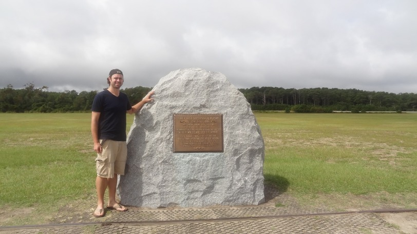 I can now say that I stood at the exact spot of the first powered-airplane flight!