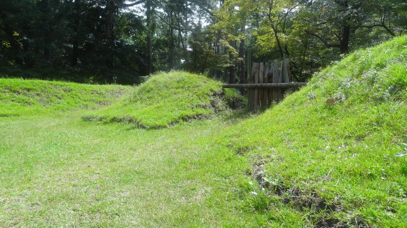 The earthworks at the former Roanoke Colony