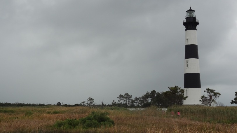 The Bodie Island Lighthouse, the first place to stop for most tourists at the Cape Hatteras National Seashore