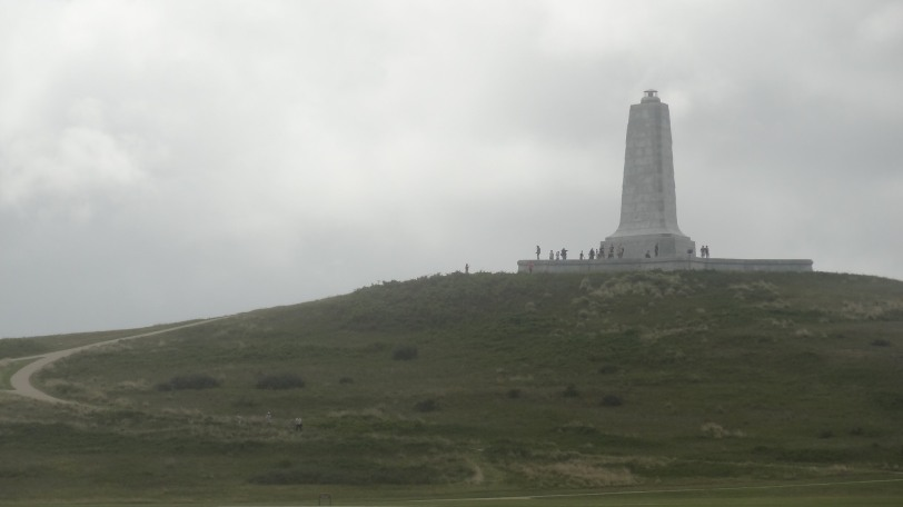 The Wright Brothers Memorial on a not so good day to be flying...