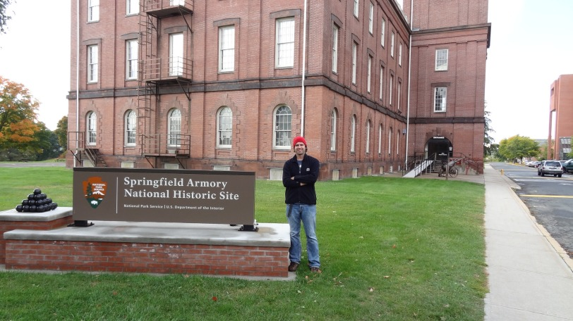 Your's truly in front of the Springfield Armory