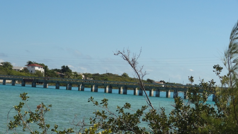 "The bridge at a place called ""The Ferry"" gets you over to Little Exuma."