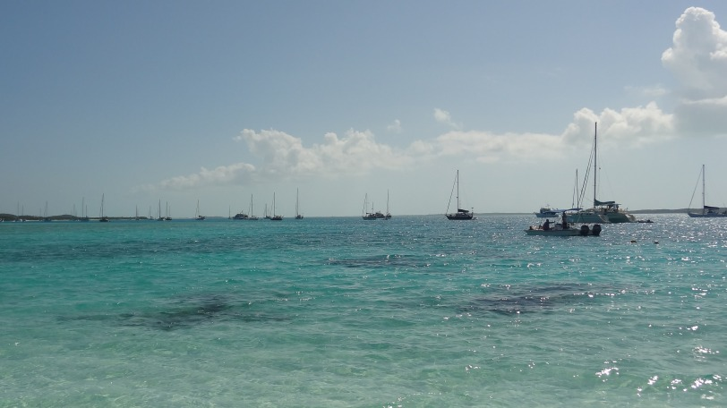 The spot for snorkeling on Stocking Island.