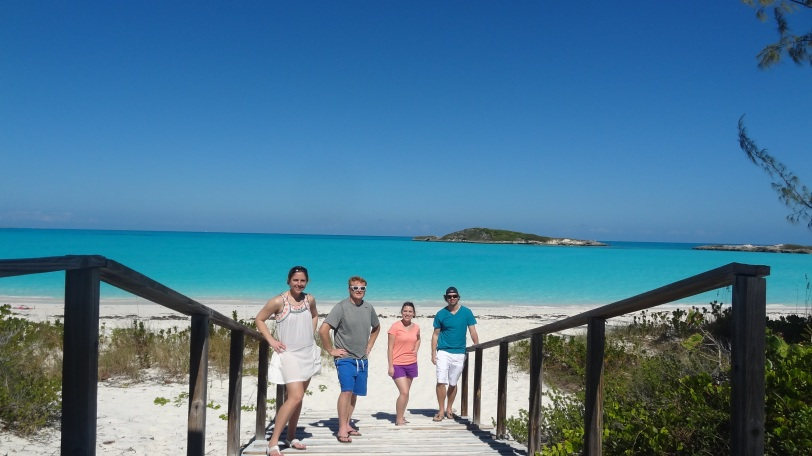 The four of us gathered at Tropic of Cancer beach.