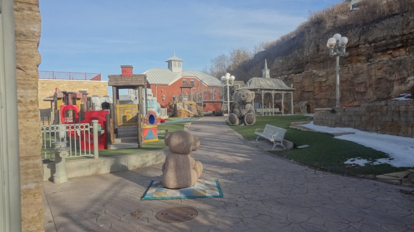 Despite the 55-degree weather, it was still too cold to open the gates to Teddy Bear Land :-(