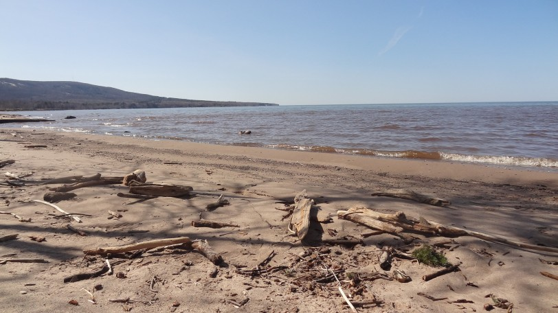Shoreline of Lake Superior near Ontonagon, Michigan