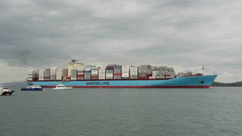 Not the Maersk Alabama (of Captain Phillips fame), but this giant Maersk container vessel, built in 1999, was, at the time, one of the largest in existence.