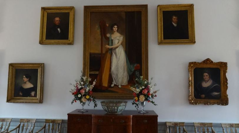 The Lady Liberty-esque Thomas Sully painting of Eliza Ridgely stands front and center in the main hall. This is a replica of the original, which now is part of the National Gallery of Art's collection. If you take the Art and Architecture tour, you'll find out why this painting is so important to the creation of the Hampton National Historic Site.