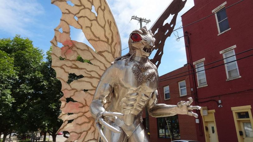 I'm a big fan of the Mothman Prophecies movie, so why not pay this creepy Mothman statue a visit. Point Pleasant, WV is home to this and the Mothman museum, which has a huge collection of movie props as well as artifacts related to the actual event the movie was based on.