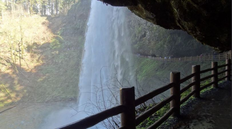 A view from behind the majestic South Falls