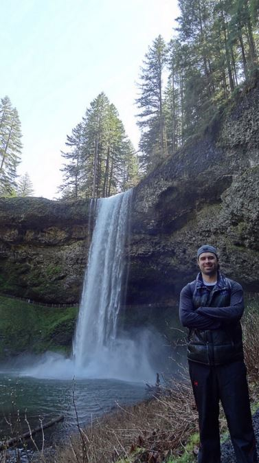 Another satisfying weekend day trip! (Me in front of South Falls)
