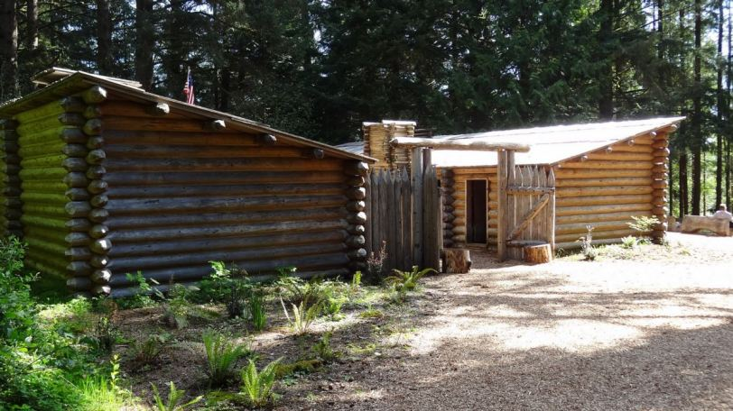 The Fort Clatsop re-creation